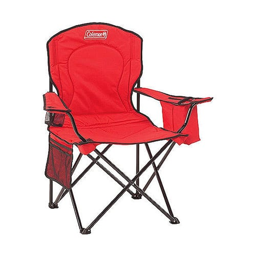 Coleman Chair Quad Cooler, Red