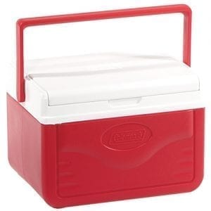 Coleman Cooler Red, 5 Quart Stacker