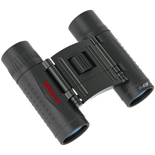 Tasco Essentials Binoculars 8x21mm, Roof Prism, Black, Boxed