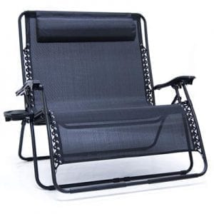 Zero Gravity Folding Love Seat