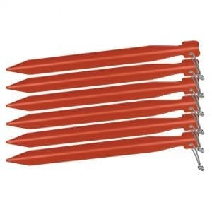 "Big Agnes 8"" Tent Stakes: Pack of 6-Red"