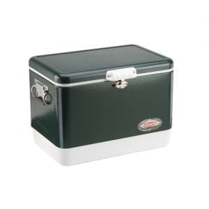 Coleman Cooler Steel Belted Green, 54 Quart