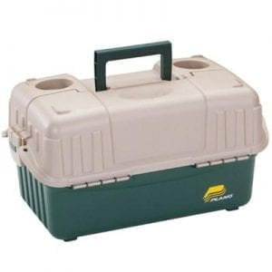 Hip Roof Tackle Box w/6-Trays - Green/Sandstone