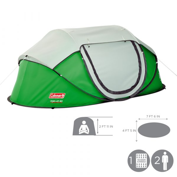 Coleman 2-Person Pop-Up Tent, camping tents, car camping