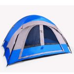 3-Person Blue/Gray or Red/Gray Camping Tent by Barton Outdoors