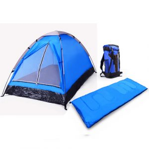 3 Piece - 1 Person Camping Gear Set