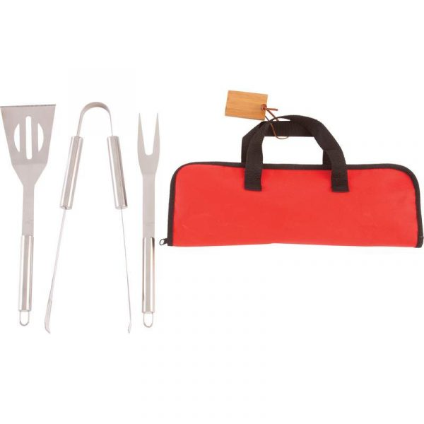 Chefmaster 4pc Stainless Steel Barbeque Tool Set