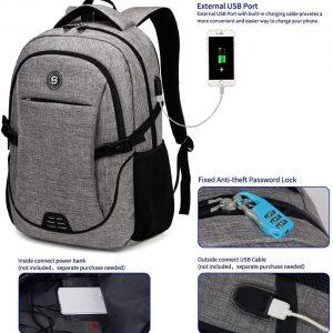 Durable Anti Theft Laptop Backpack Travel Backpacks Bookbag